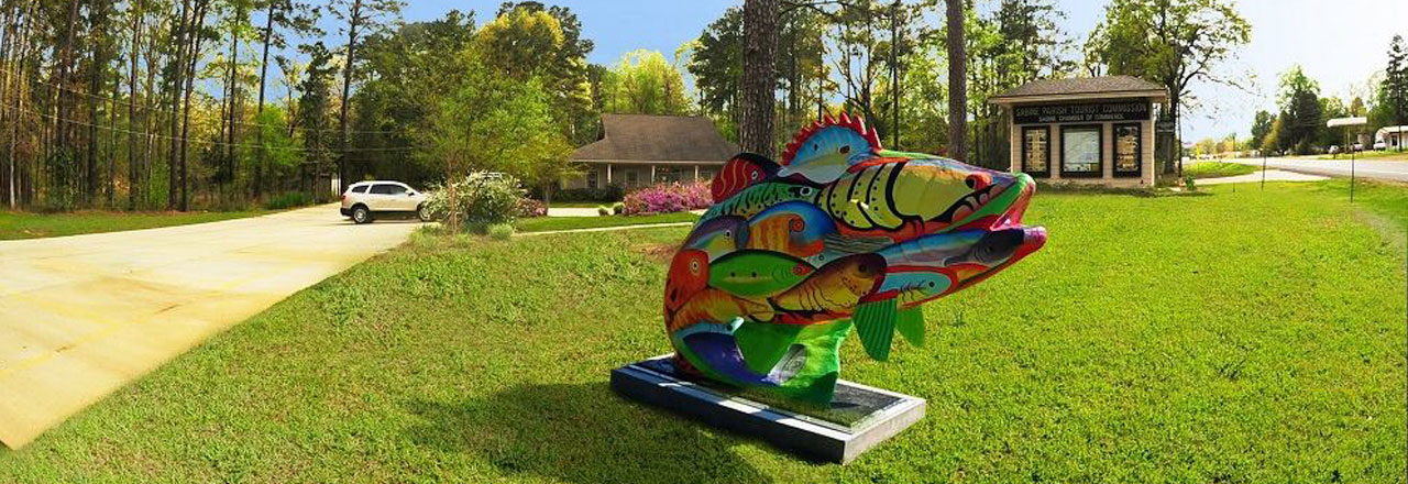 See all the Fish Statues created by Sabine Parish Artists