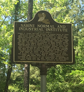 Sabine Normal and Industrial Institute Marker Toledo Bend