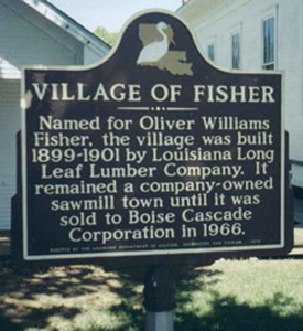 Village of FIsher Historic Marker