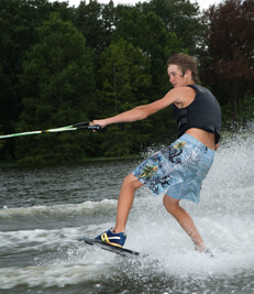 Water skiing in Toledo Bend Lake Country